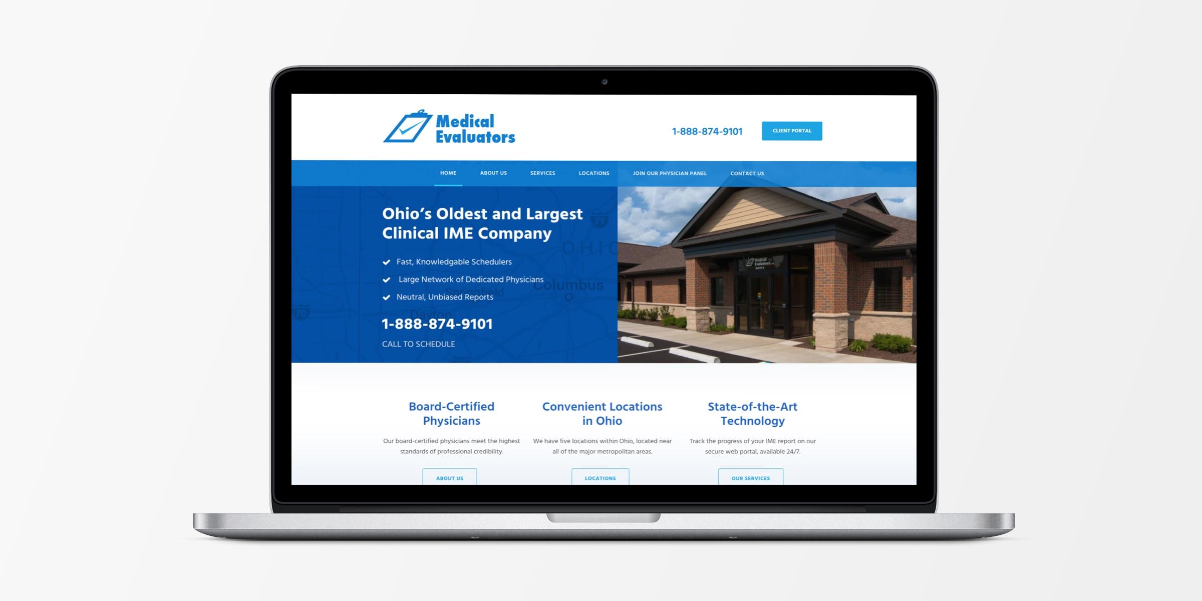 Medical Evaluators Responsive Web Design