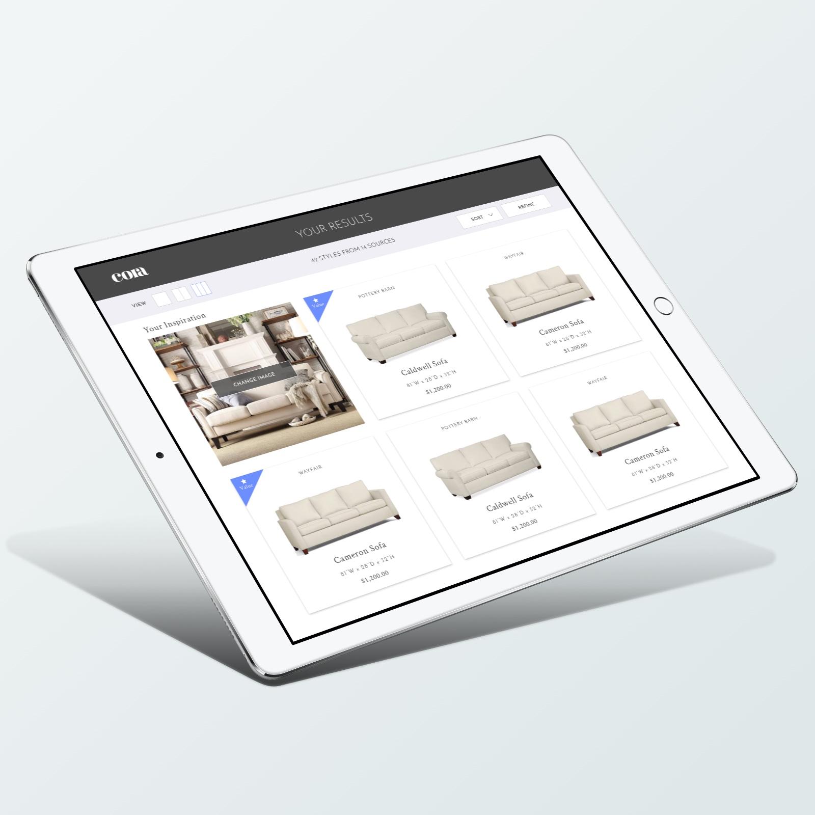 Cora Sofa Finder App