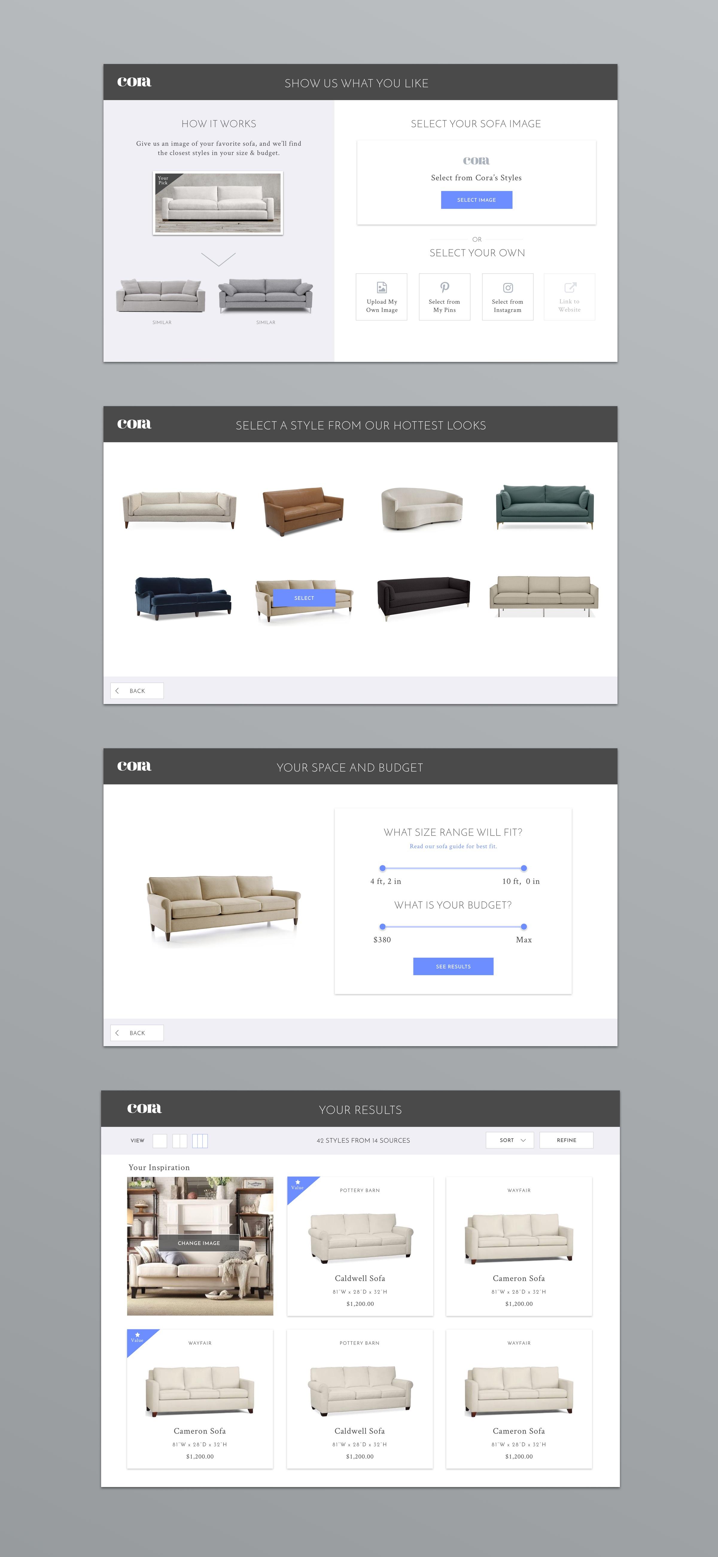 Cora Sofa App