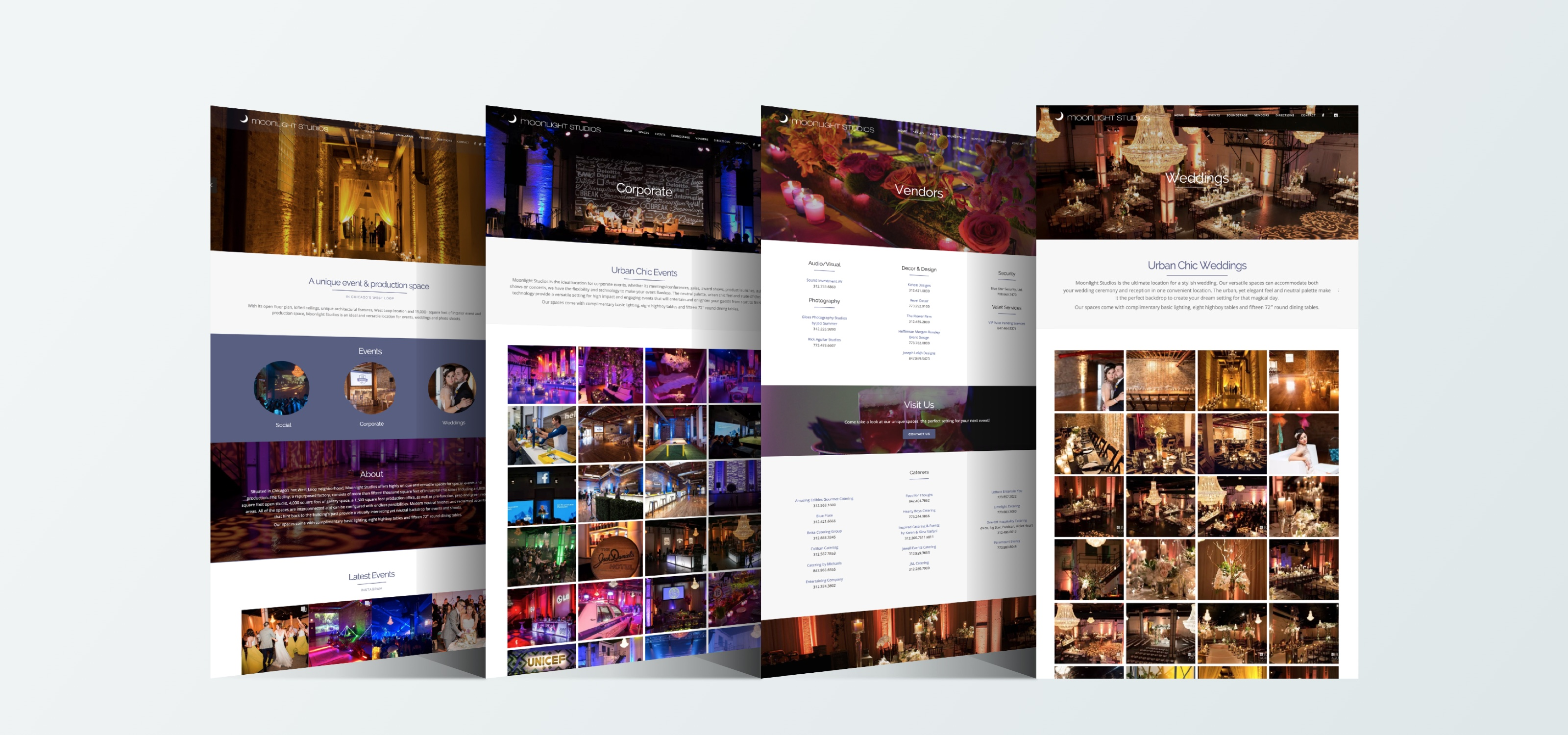 Moonlight Studios Responsive Website