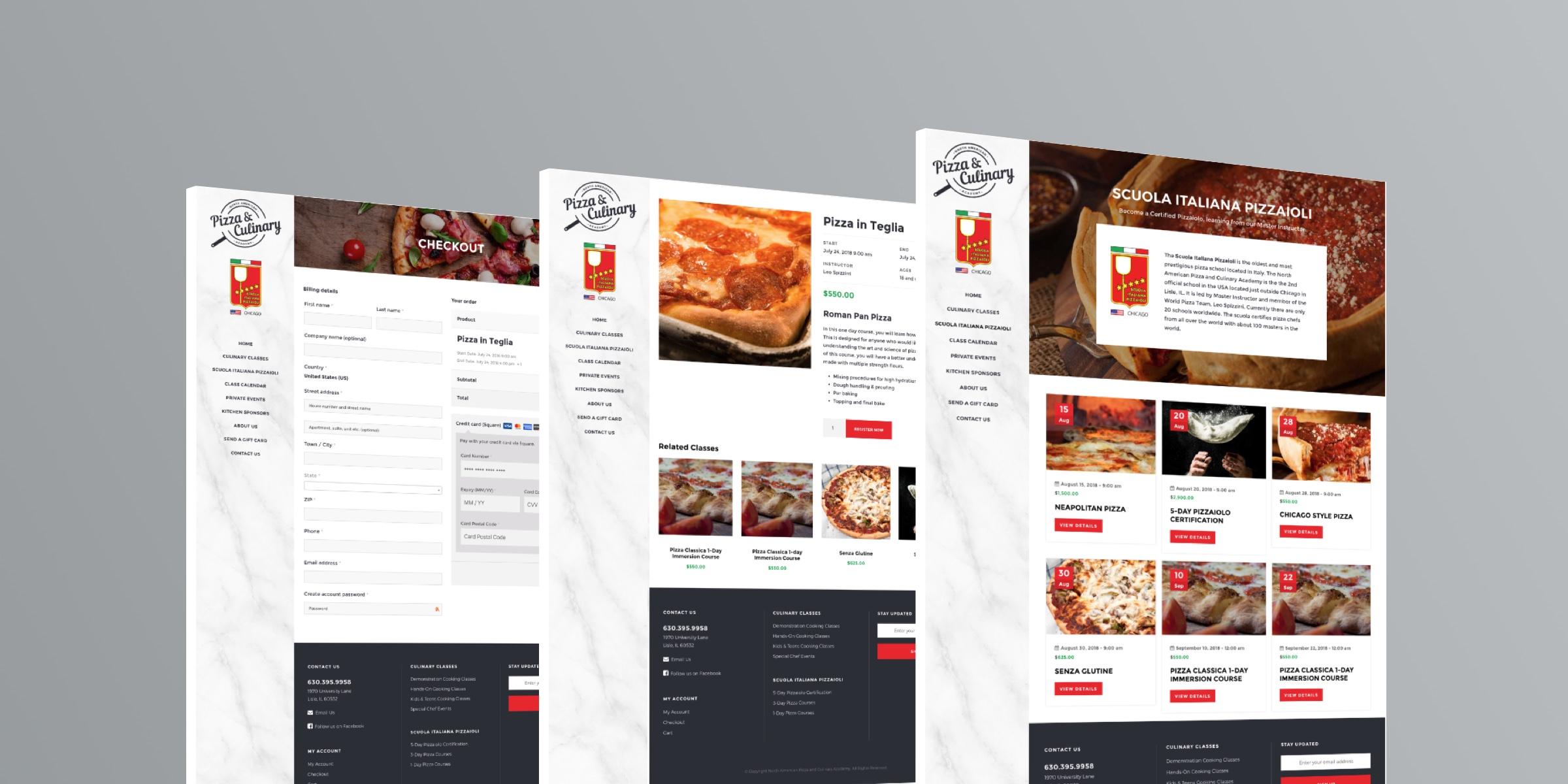 Pizza School Responsive Web Site