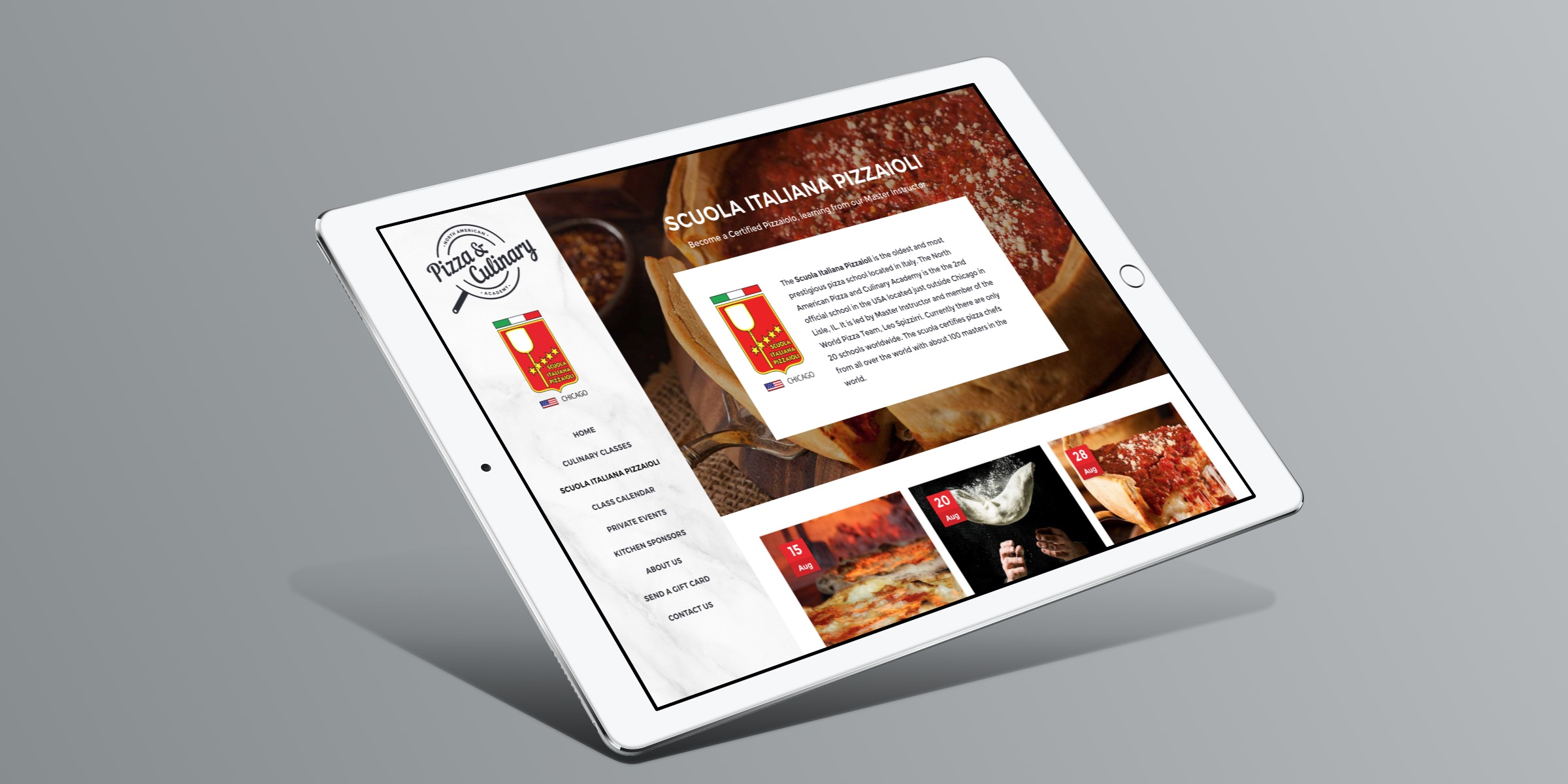 Pizza School Responsive Web Site