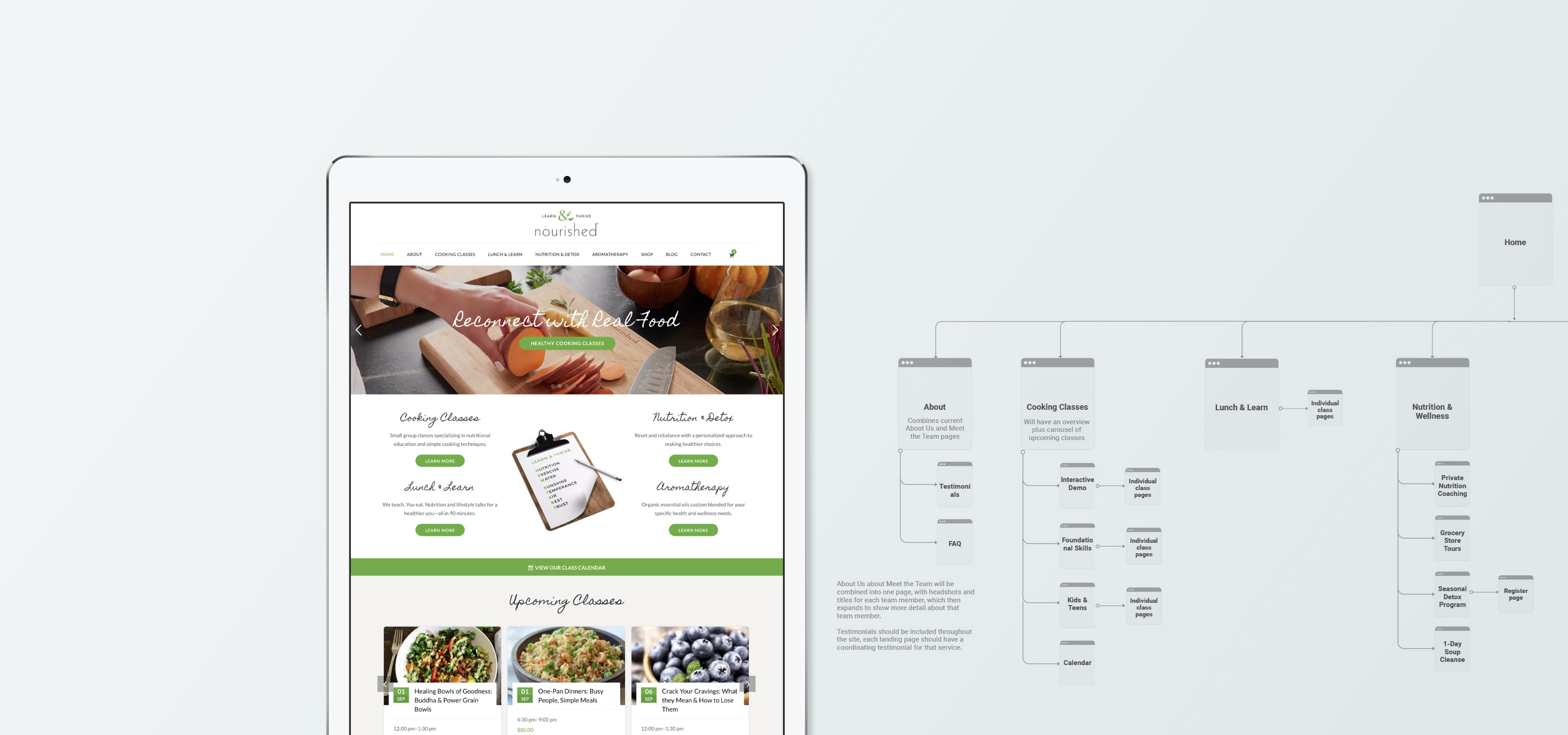 Cooking School Site Redesign